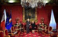 Порошенко розпочав зустріч із президентом Мальти