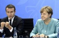 Меркель и Макрон призвали Путина и Порошенко обеспечить прекращение огня