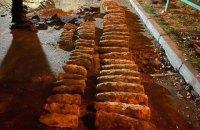 В Киеве в районе Шулявского моста нашли десятки старых артиллерийских снарядов
