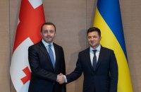 Зеленський зустрівся з прем'єр-міністром Грузії