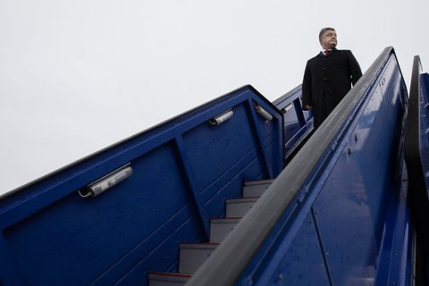 Порошенко прибыл с двухдневным визитом в Брюссель