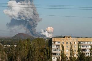 СНБО: обстрелы в Донецке вызваны столкновениями между боевиками