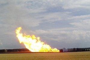 В Счастье снаряд повредил магистральный газопровод