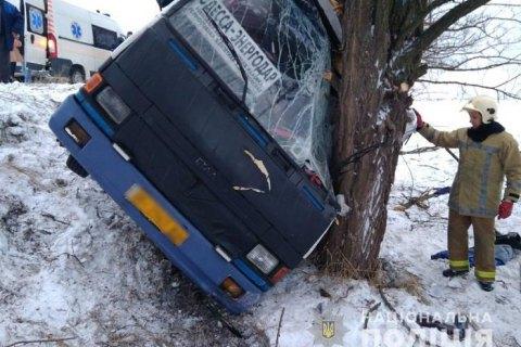 У Херсонській області рейсовий автобус з пасажирами злетів у кювет