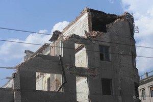 В центре Харькова обрушилась стена дома
