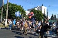 Националисты перекрыли улицу возле Управления патрульной полиции в Киеве (добавлены фото)