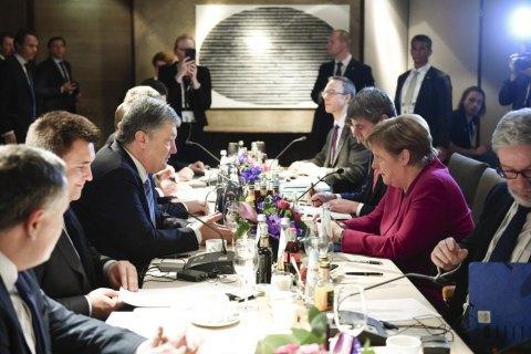 Порошенко в Мюнхене провел переговоры с Меркель
