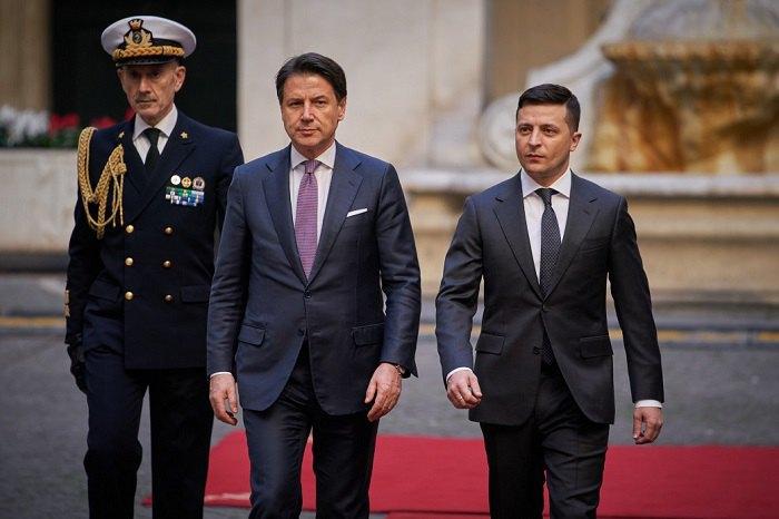 Встреча Зеленского с премьером Италии Джузеппе Конте