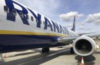 Ryanair до весни призупиняє 70% рейсів із Києва
