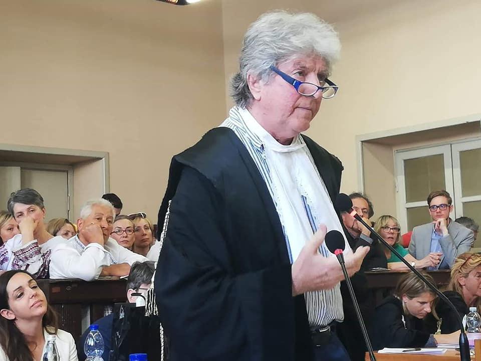 Адвокат Марківа Рафаелле Делла Валле на суді