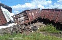 В Одесской области сошел с рельсов грузовой поезд (обновлено)
