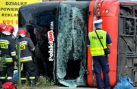 В Польше перевернулся автобус: 28 пострадавших