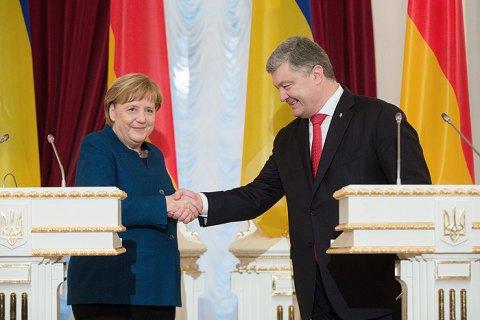 Порошенко проведет 12 апреля в Берлине переговоры с Меркель