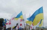 """Під Харківською облрадою зійшлися прихильники і противники """"мовного"""" закону"""