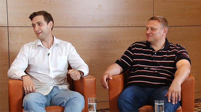 Александр (справа) и Андрей Шевченко