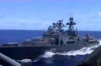 ВМС США і РФ звинуватили одні одних у небезпечних маневрах у Філіппінському морі