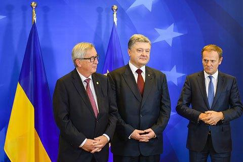 Туск і Юнкер підтвердили виконання Україною зобов'язань щодо безвізу, але рішення поки що не прийнято