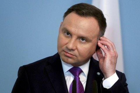 Дуда заявив, що Польща очікує від України історичної правди