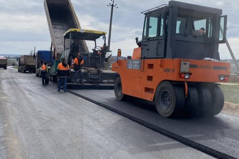 На дороге к курортному Очакову начались ремонтные работы