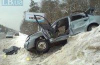 На Бориспольской трассе под Киевом перевернулся Lanos, погибла пассажирка