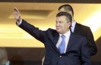 Януковича заметили на матче Испания - Россия