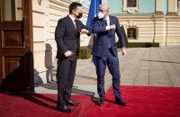 Зеленский и президент Евросовета начали переговоры в Мариинском дворце