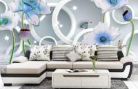 3Д шпалери в зал прості і красиві способи прикрасити вітальню