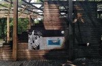 У Добропіллі згорів амфітеатр у сквері-переможці конкурсу архітектури та урбаністики