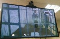 Надежда Савченко участвует в заседании суда через видеосвязь