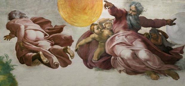 Фрагмент фрески потолка. Сикстинская капелла