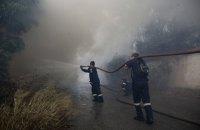 Из-за лесных пожаров в Греции эвакуировали туристический лагерь