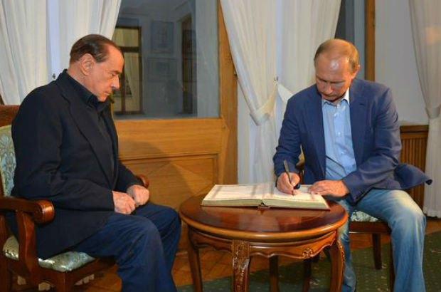 Путин и Берлускони побывали в Ливадийском дворце