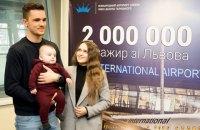 """Аэропорт """"Львов"""" впервые преодолел отметку в 2 млн пассажиров"""