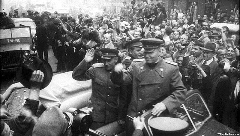 Маршал Конєв після звільнення Праги, 1945 р.