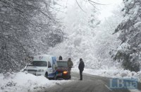 Из-за непогоды в Украине произошло более 851 ДТП с начала суток