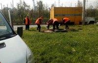 В Киеве застройщик забетонировал канализацию в районе ж/д вокзала