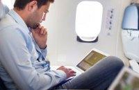 Украинцам разрешили интернет в самолетах