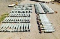 СБУ нашла в Песках тайник со 160 снарядами крупного калибра