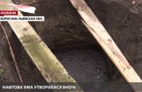 Во Львовской области на огороде образовалась яма с нефтью глубиной 17 метров