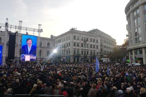 """В Тбилиси прошла многотысячная акция под девизом """"Путь Грузии в Европу"""""""