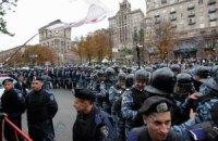 В оцеплении Крещатика участвуют 20-летние солдаты
