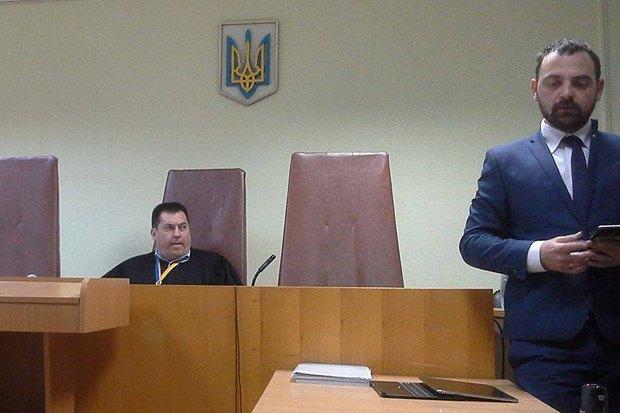 Судья Юрий Зубец и адвокат Шаповалова
