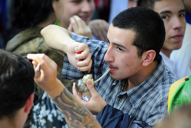 Чили, марш за легализацию марихуаны