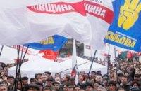 """В Ужгороде оппозиции заблокировали место для акции """"Вставай, Украина"""""""