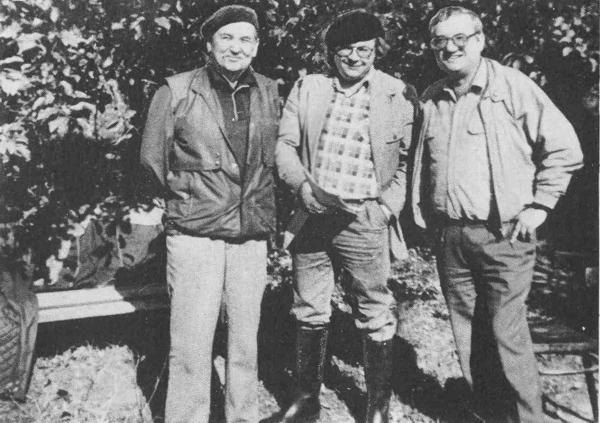 Олесь Гончар, Іван Драч і Юрій Щербак. Конча-Озерна. 1980-ті рр