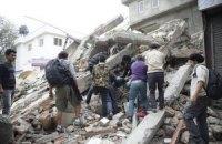 Уличные камеры засняли землетрясение в Непале