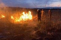 У Долині нарцисів на Закарпатті зайнялася пожежа