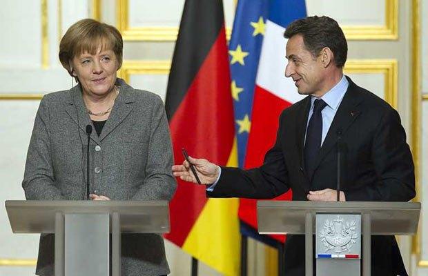 «Тандем» Ангели Меркель та Ніколя Саркозі саркастично охрестили «Меркозі»