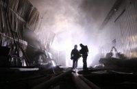 Спасатели потушили масштабный пожар на ул. Святошинской в Киеве