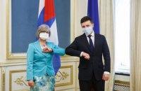 Зеленський прийняв вірчі грамоти у послів Сербії, Куби та Казахстану